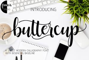 font buttercup hand lettering bisa download gratis