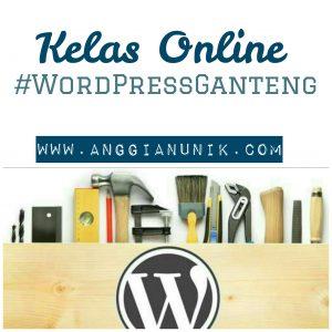 kelas online wordpress bersama isah kambali